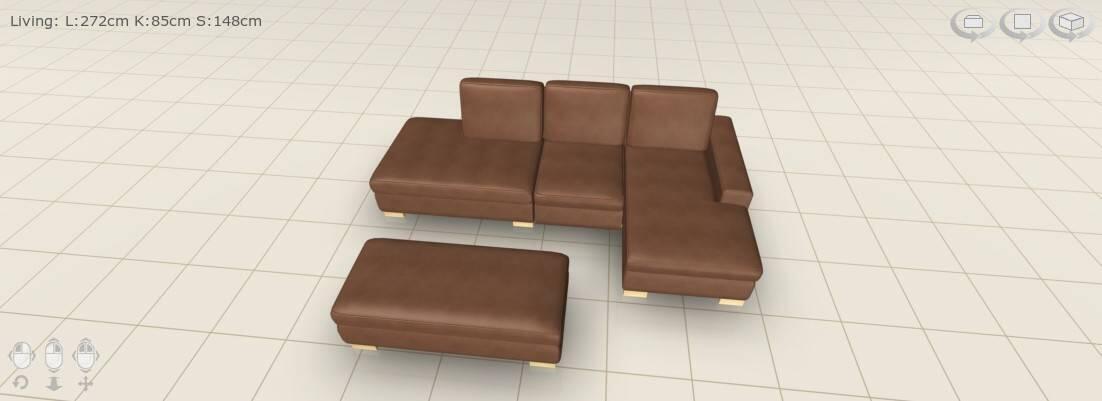 Tilaamamme sohva suunnitteluohjelman mukaan.