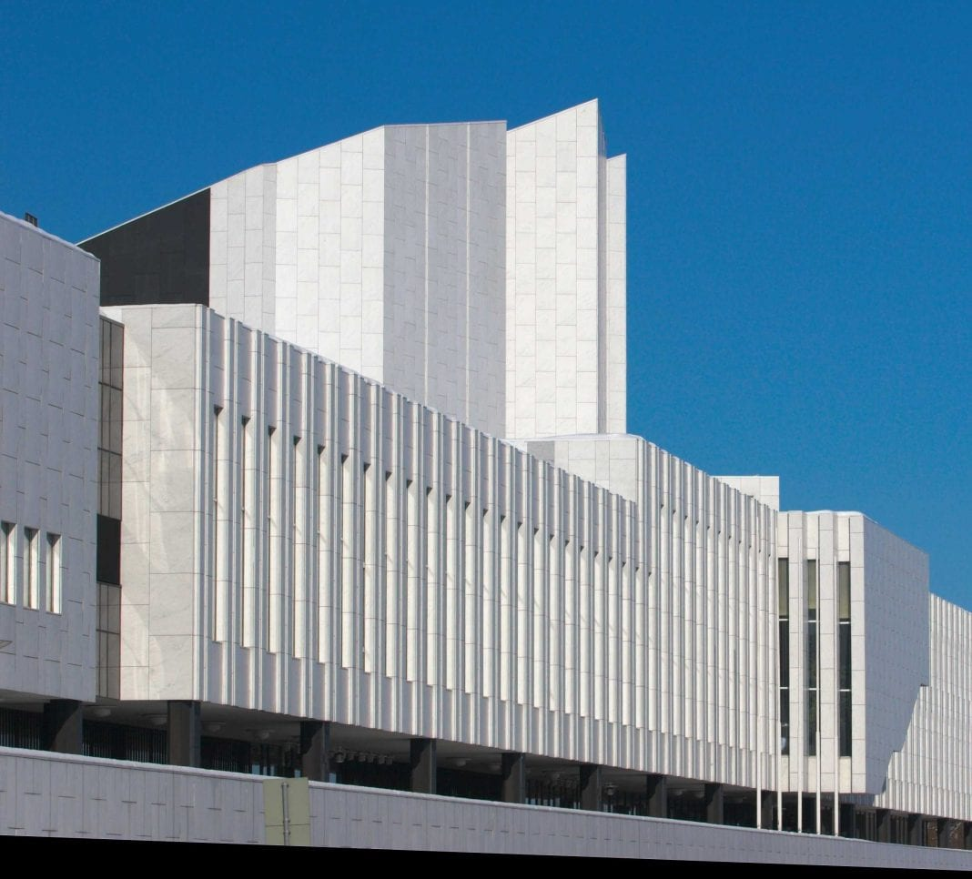 A picture of the Finlandia Hall I took. Photographer: Thermos.