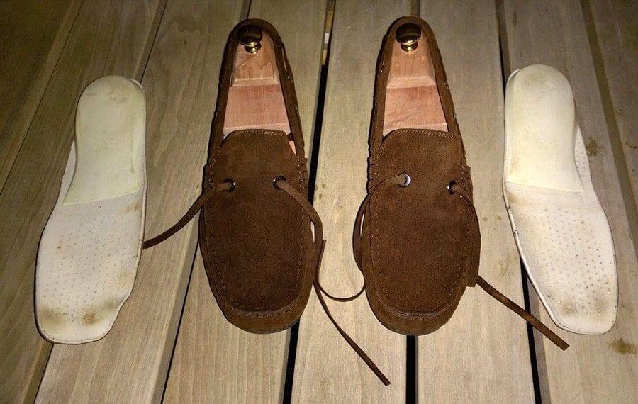 Kengät ja irtopohjalliset kuivuivat muutaman vuorokauden.