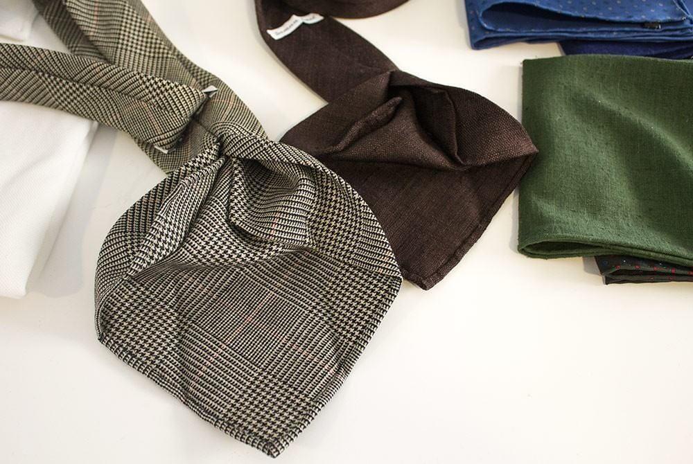 Saman Amelin käsintehdyt solmiot olivat huippulaadukkaita.