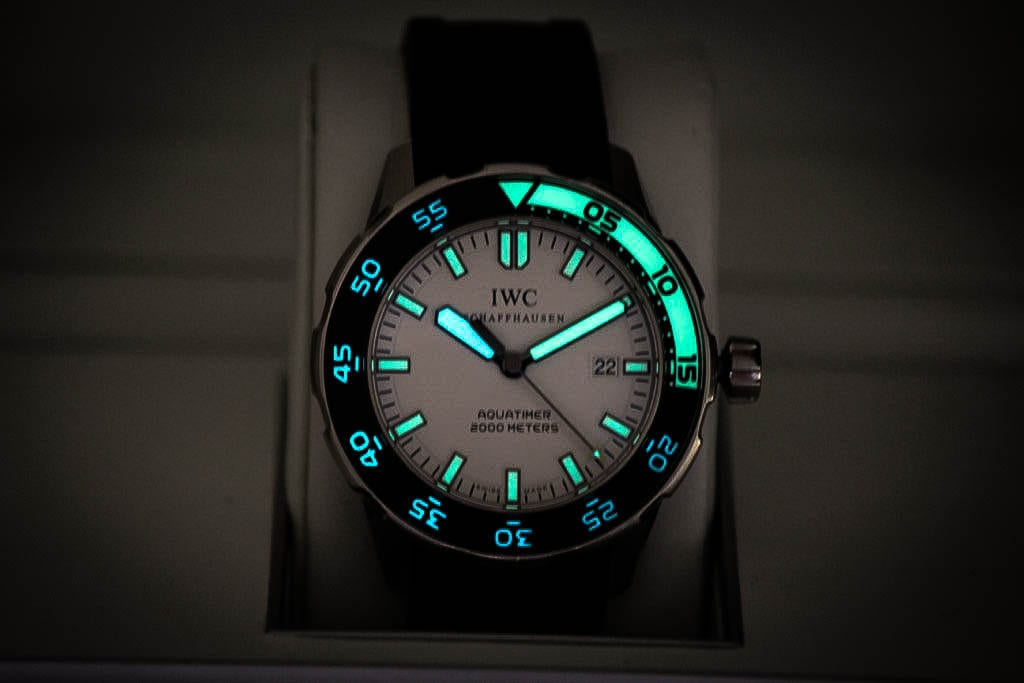IWC Aquatimerin lume on voimakas.