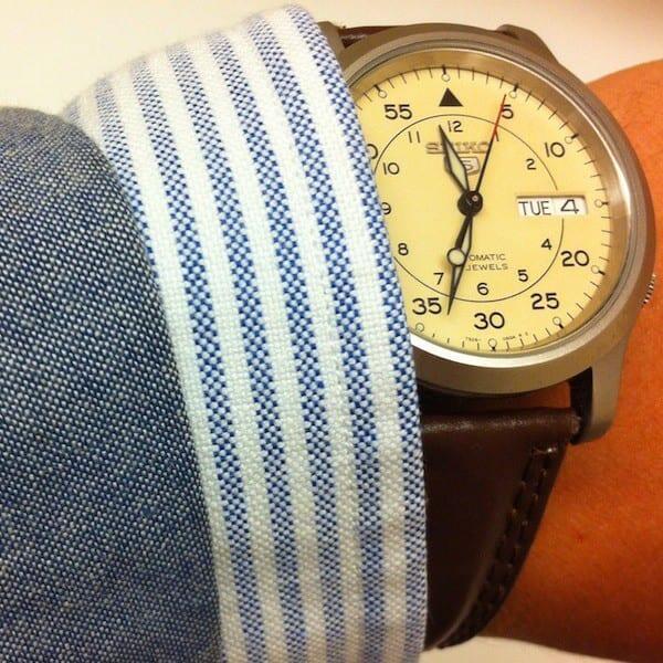 """Ensimmäinen """"oikea"""" kelloni oli Kellofoorumilta ostamani Seiko5."""