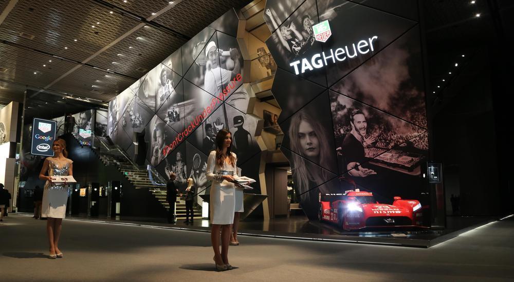 Tag Heuerin osasto Baselworld 2015 -messuilla.