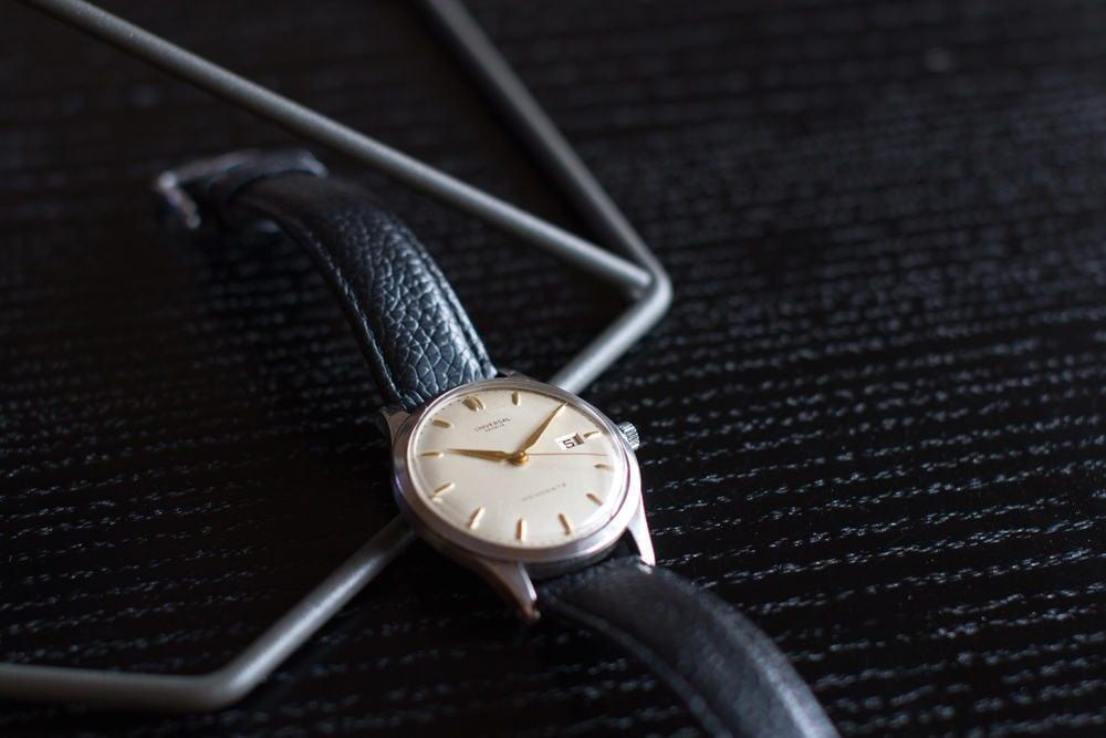 Turun kelloillan yksi hienoimmista kaupaksi käyneistä rannekelloista oli vintage-ikäinen Universal Geneve. Kuva: Joona Wörlin
