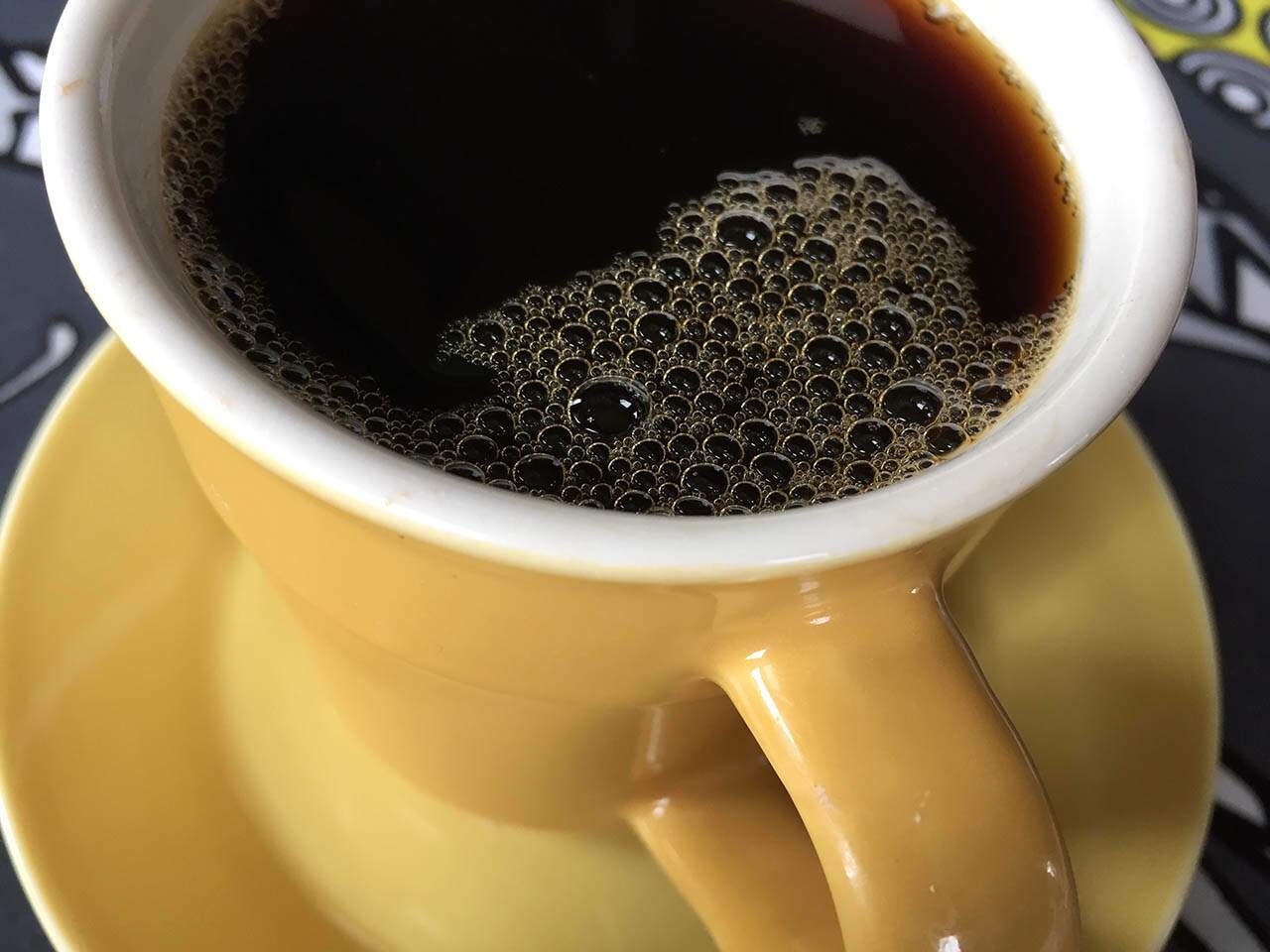 Kuppi hyvää kahvia.