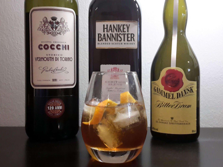 Cocchi Vermouth di Torino, Hankey Bannister Heritage Blend & Gammel Dansk - yhdessä Mr. Hankey