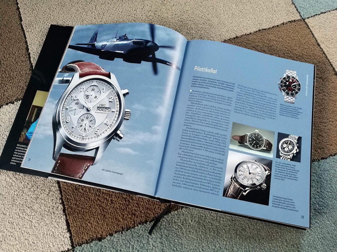 Kiitos Kellomies-kirjan, unelmieni rannekello on IWC Spitfire Chronograph.