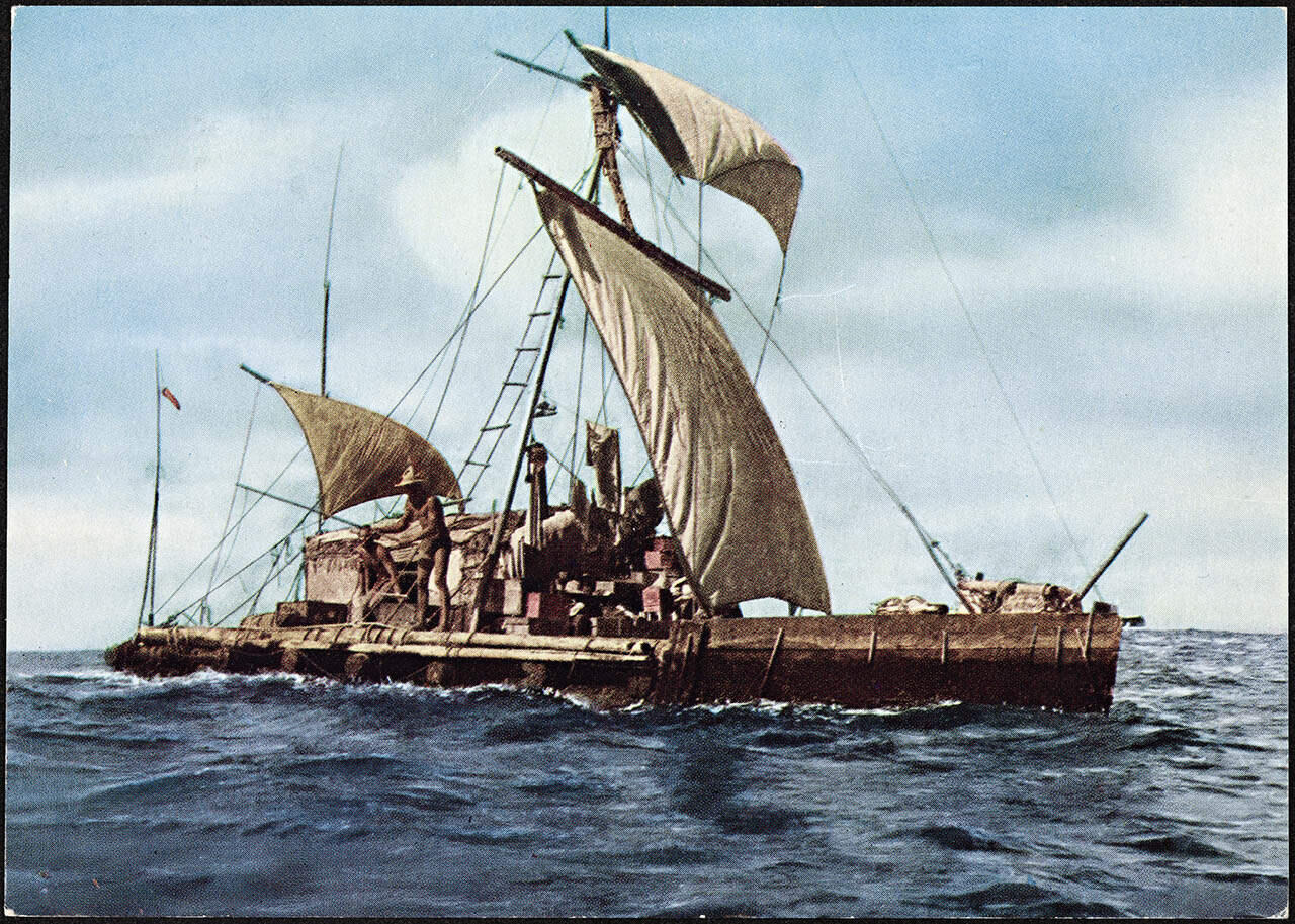 Thor Heyerdahlin Kon-Tiki -alus. Kuva: Wikimedia Commons