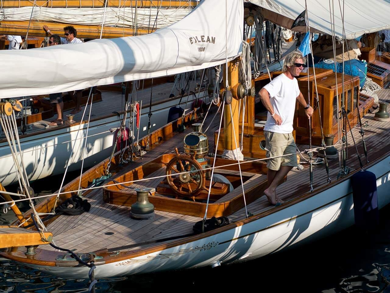 sailing boat panerai regatta purjevene