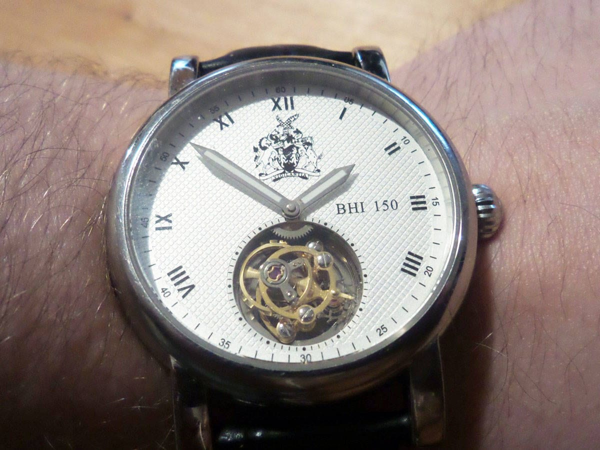 British Horology Instituten (BHI) 150-juhlavuoden tourbillon.