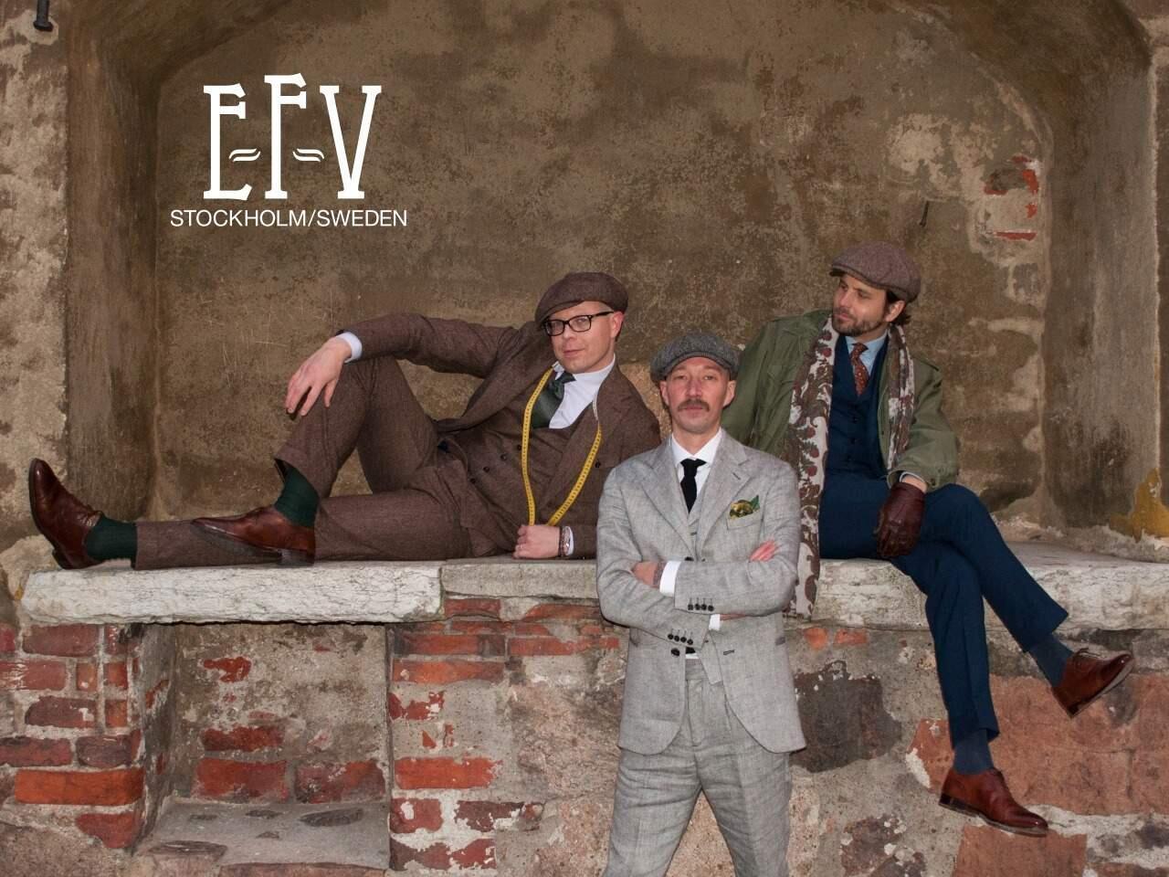 E-F-V:n kolmikko vasemmalta oikealle: Jussi Häkkinen, Lars Holmberg ja Erik Mannby.