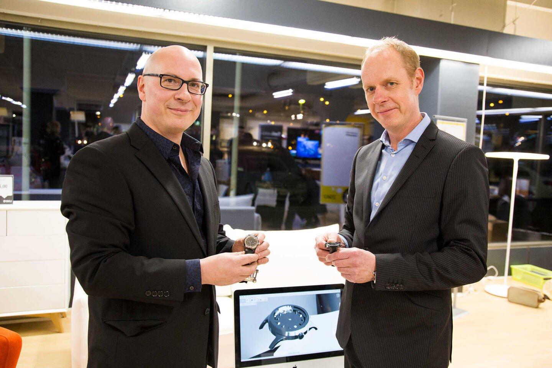 Ville Hänninen (vas.) ja Pertti Hänninen.