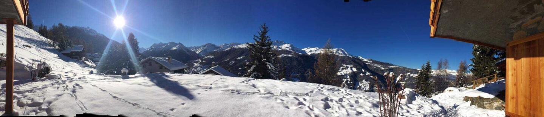 Näissä Gstaadin maisemissa Mullerit viimeistelivät Brellumin ensimmäisen kellon, Duoboxin, suunnitelmat.