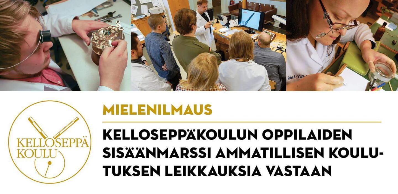 Kelloseppäkoulun mielenilmaisu 19.-20.1.2017