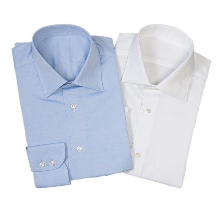 Valkoinen ja sininen kauluspaita on kaksikko, joka toimii aina ja kaikkialla. Kuvat: Herrainpukimo