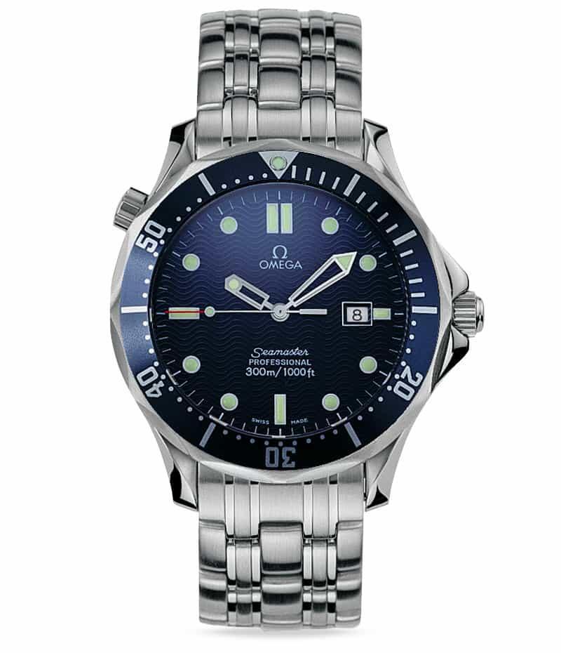Omegan ensimmäinen Bond-rannekello (ref. 2541.80.00), Seamaster 300M Quartz. Kuva: Omega