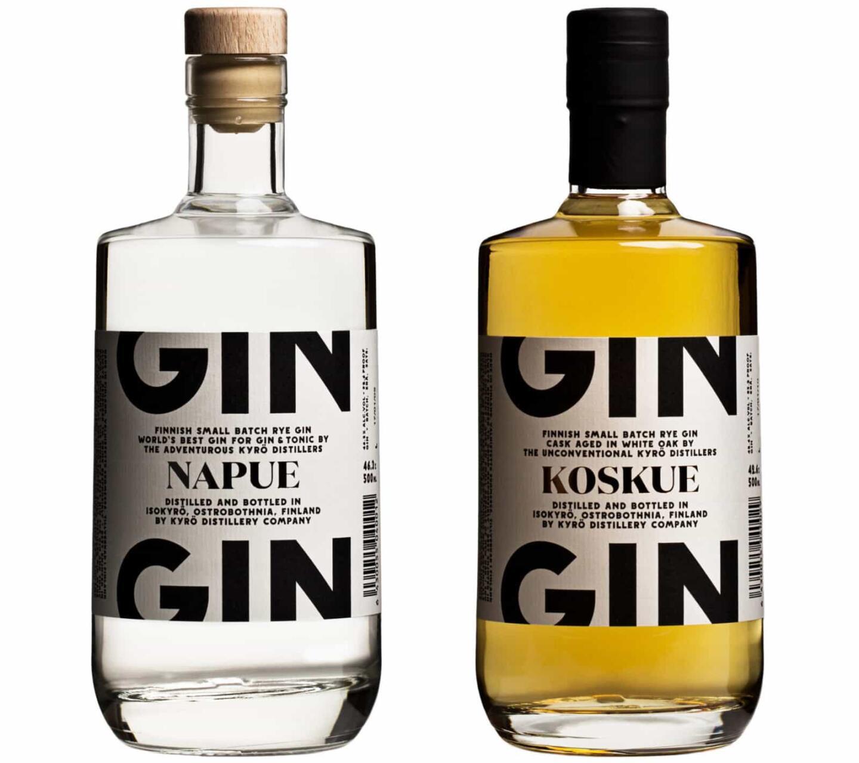 Kyrö Napue Gin ja Kyrö Koskue Gin