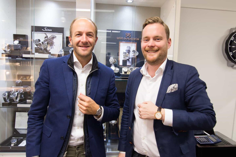 Sjöö Sandströmin Kristofer Johansson (vasemmalla) ja Felix Formark olivat yhtä hymyä.