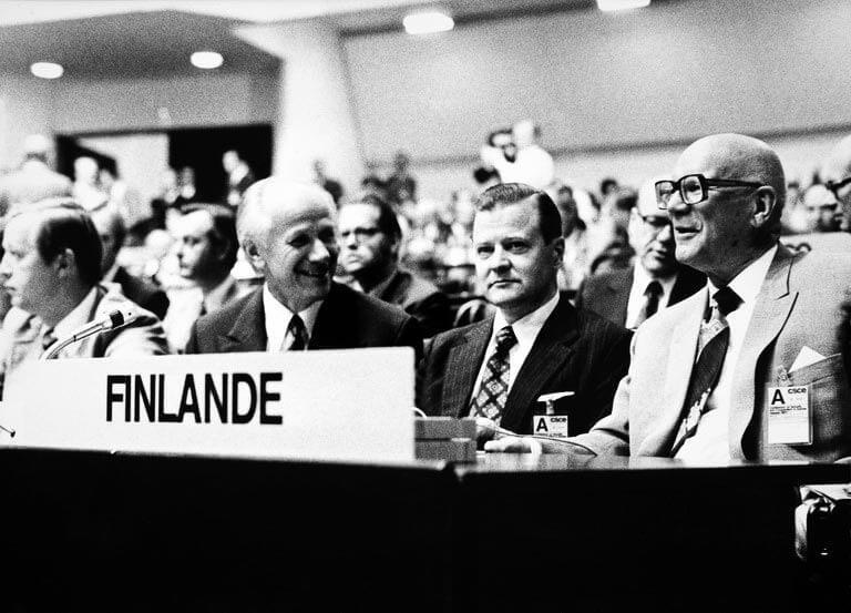 Kekkonen poliittisen uransa huipulla Helsingin ETYK-kokouksessa kesällä 1975. Kuva: Wikimedia Commons