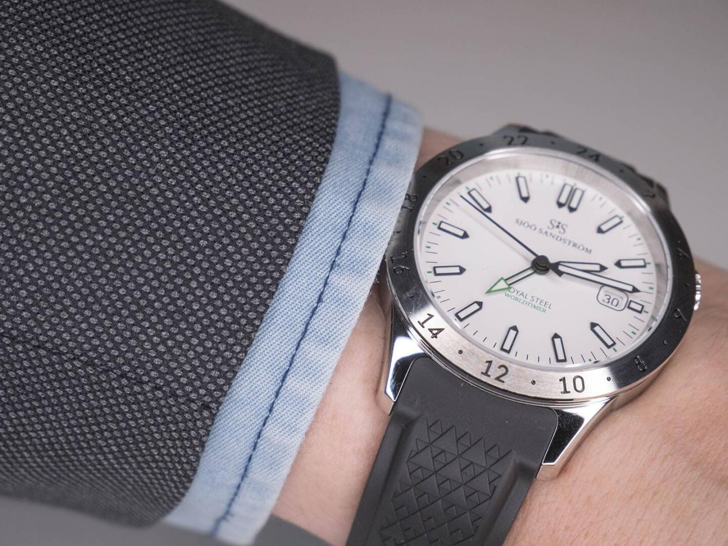 Sjöö Sandström Royal Steel Worldtimer