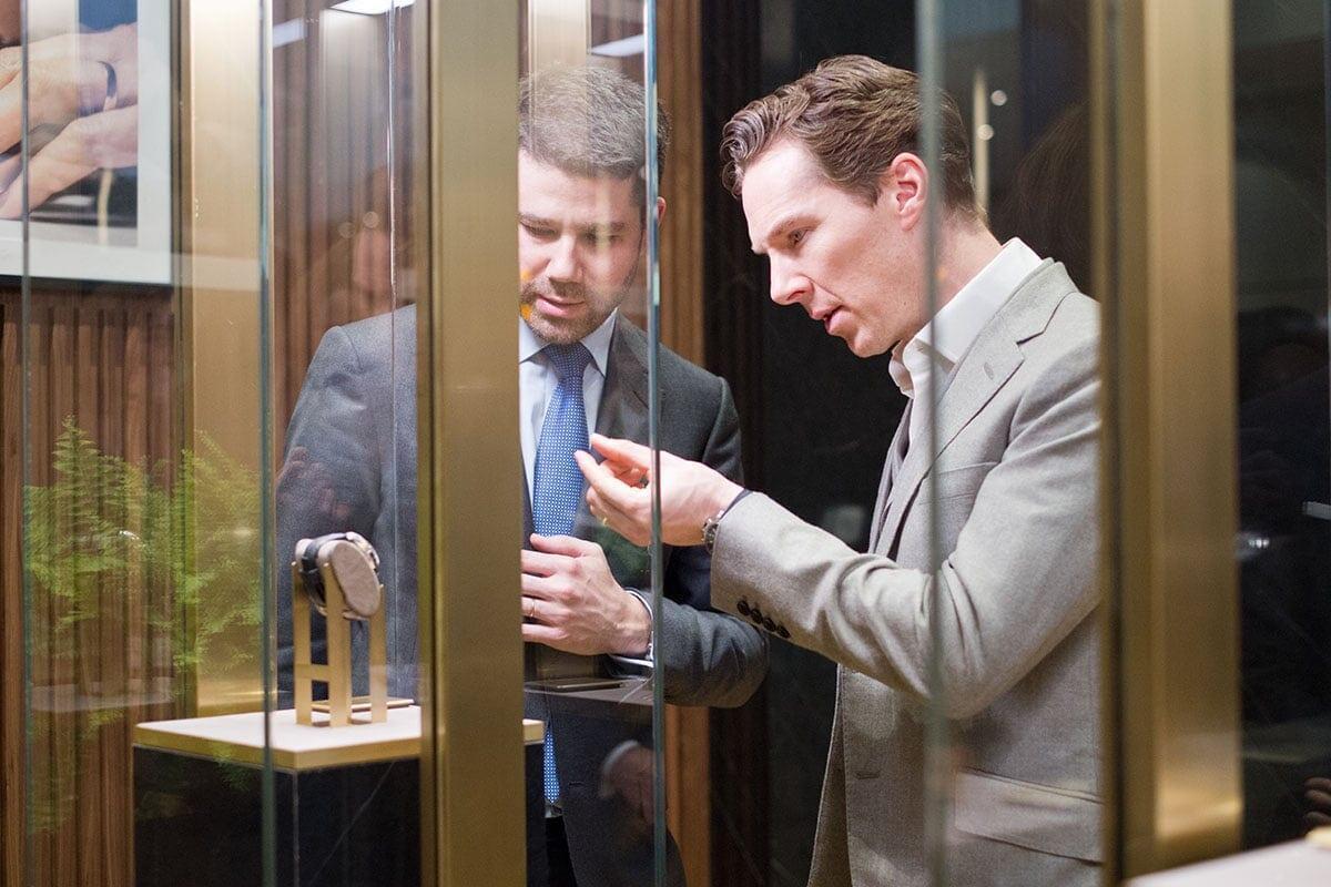Jaeger-LeCoultren brändilähettiläs, näyttelijä Benedict Cumberbatch vieraili messuilla.