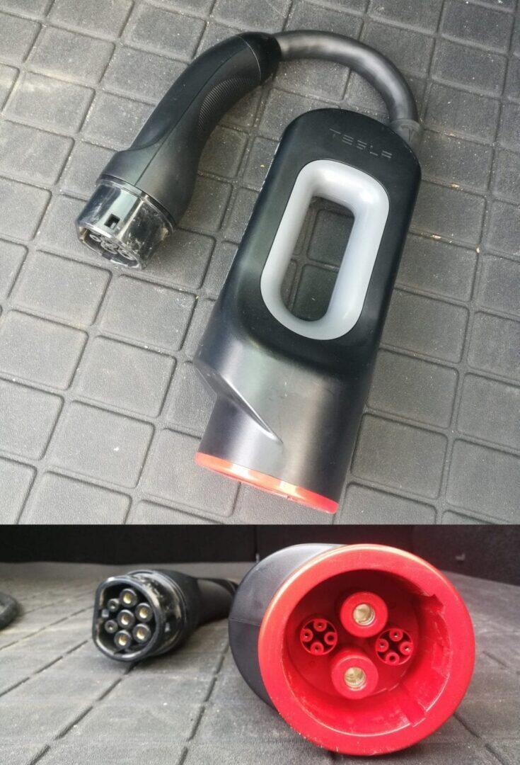 Jokamies-Teslalla-Puolaan-CHAdeMO-adapteri