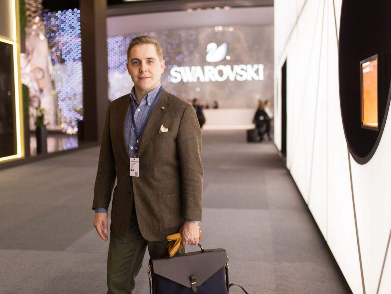 Mismo M/S Bureau toimi luottolaukkuna Baselworldin kellomessuilla.