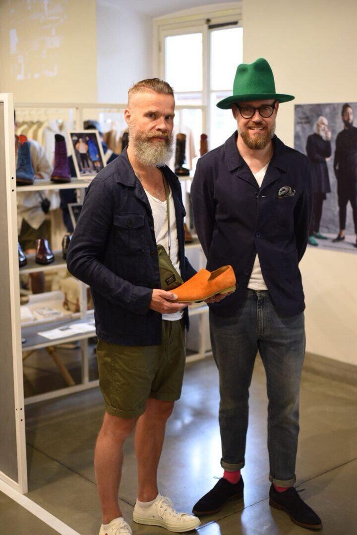 Harri Kangas (Hasan Editions) ja Janne Lax.