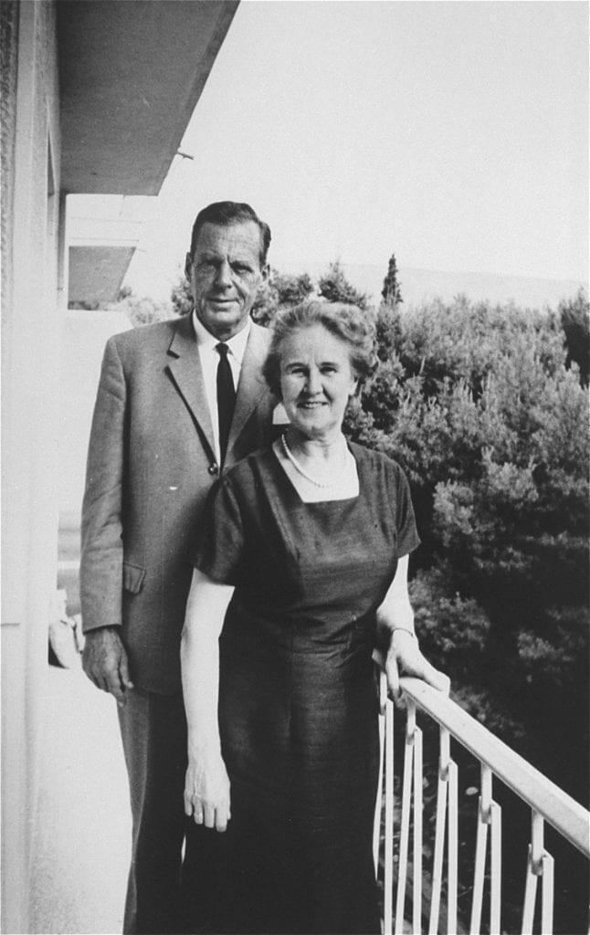 Jan Zwartendijk and his wife Erma