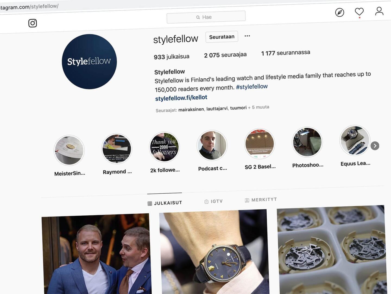 Suomen kiinnostavimmat kelloaiheiset Instagram-tilit vuonna 2019