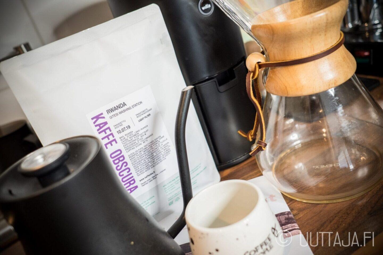 Kaffe Obscura Rwanda Gitesi -pienpaahtimokahvi