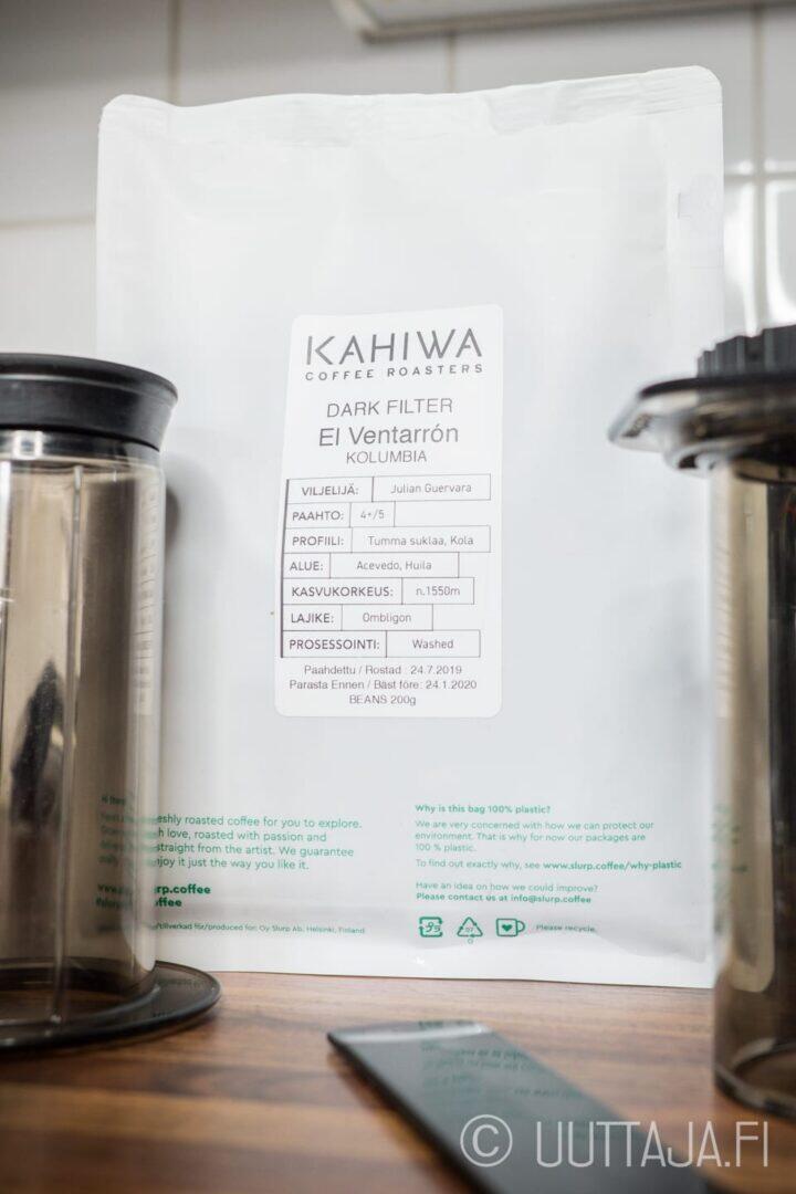 Kahiwa Coffee Roasters Kolumbia El Ventarrón -pienpaahtimokahvi