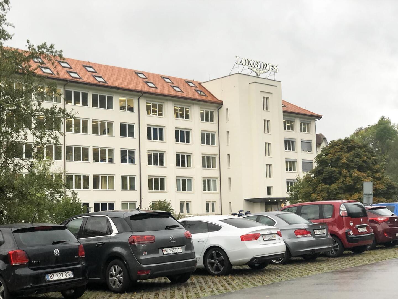Longinesin päämaja ja tehdas Saint-Imierissä, Sveitsissä.