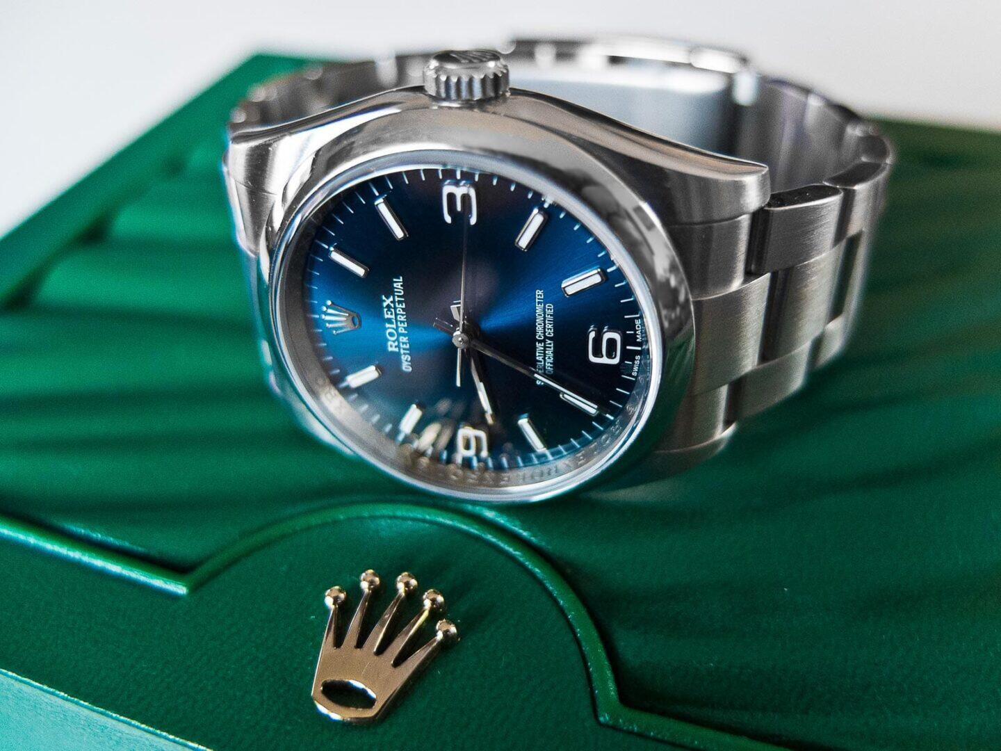 Rolex Oyster Perpetual 36 Blue 116000-0002