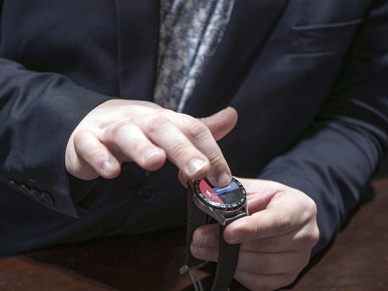 TAG Heuer Connectedin kosketusnäyttö on käyttöherkkyydeltään lähes älypuhelinten tasolla.