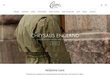 Caine Clothiersin verkkokauppa on avattu.