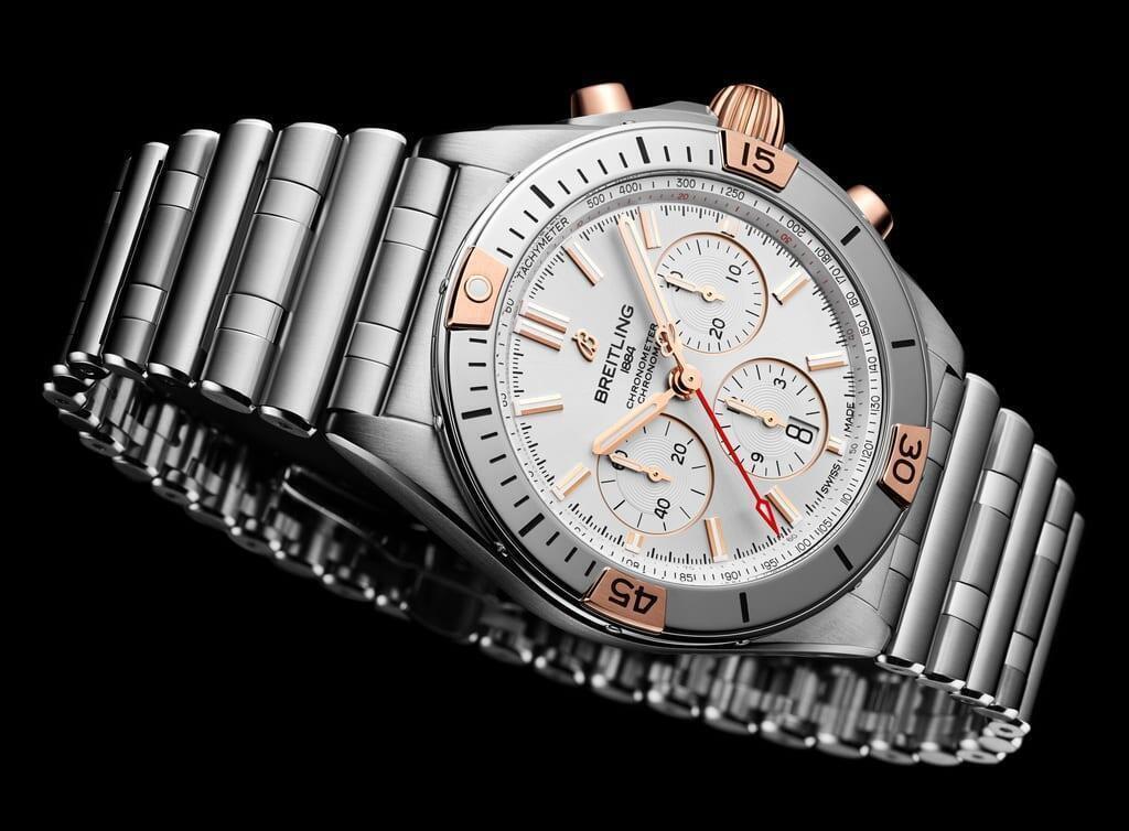 Breitling Chronomat B01 42 18 karaatin punakultasomisteilla