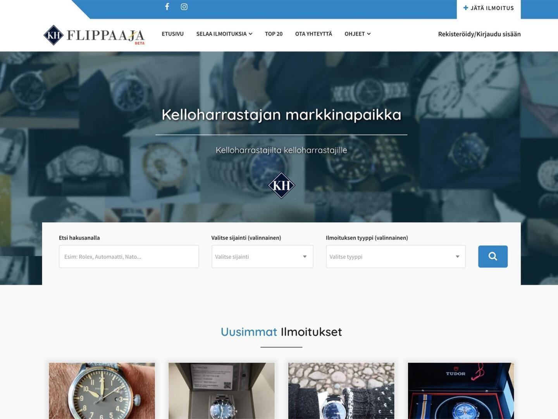 Flippaaja.fi - kelloharrastajien markkinapaikka