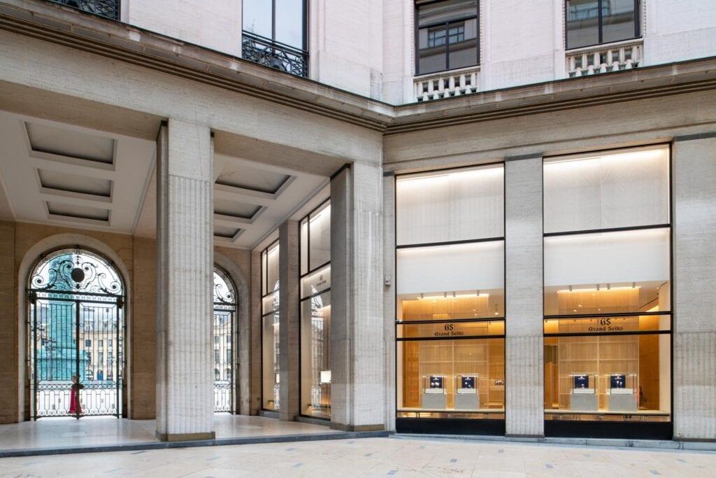 Grand Seiko -myymälä Pariisin Place Vendôme -aukiolla.