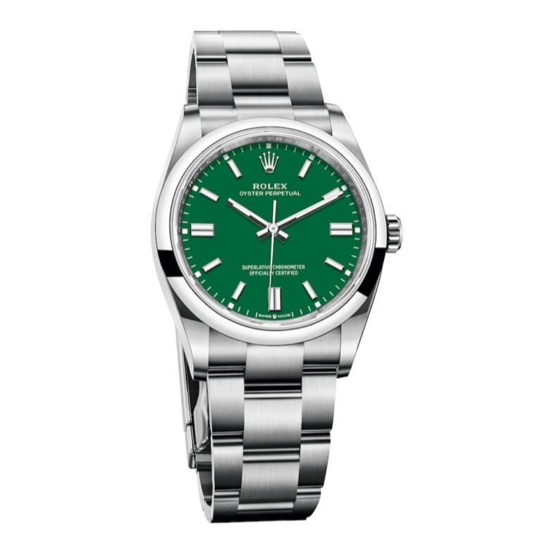 Rolex Oyster Perpetual Money Green