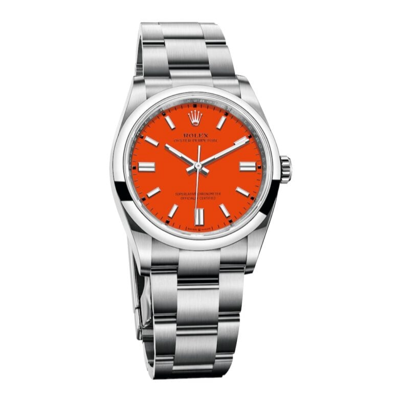 Rolex Oyster Perpetual Coral Red