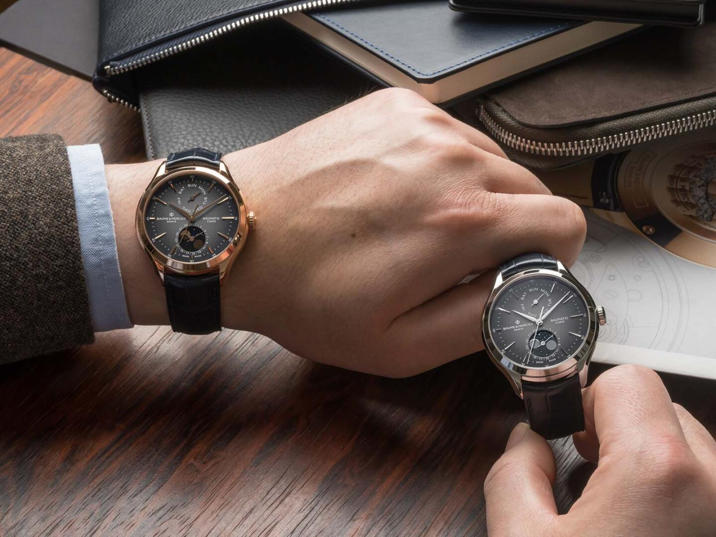 Baume & Mercier Clifton Baumatic Day Date Moon Phase