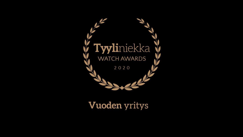 Tyyliniekka Watch Awards 2020 - Vuoden yritys