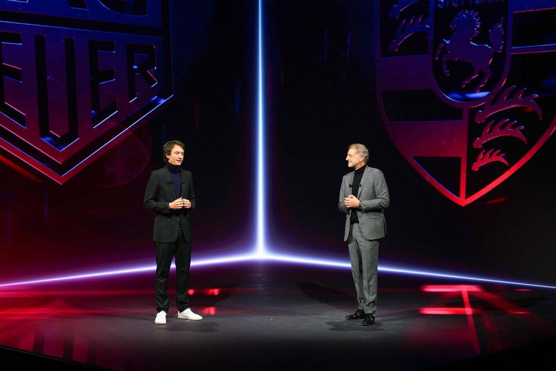 Frédéric Arnault (TAG Heuer) ja Detlev von Platen (Porsche)