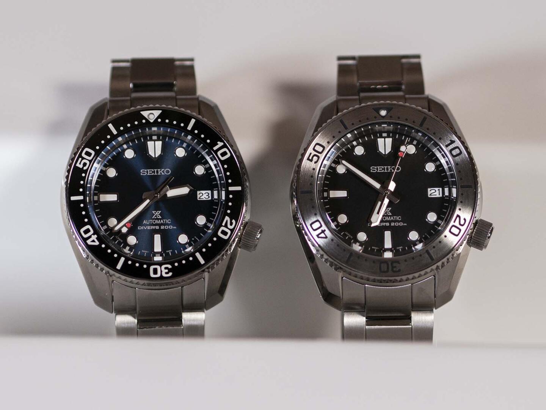 Seiko Prospex SPB187 (vasemmalla) ja SPB185.